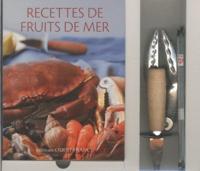 Galabria.be Recettes de fruits de mer - Coffret avec un livre, un couteau à huîtres, une pince à crustacés et 4 curettes à crabes Image