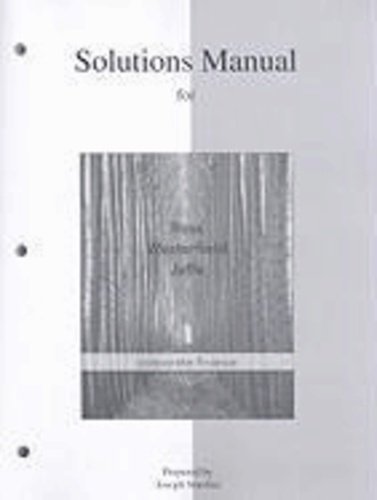 Solutions Manual to accompany Corporate Finance.