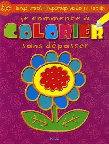 Je Commence A Colorier Sans Depasser Fleur De Sonia Canals