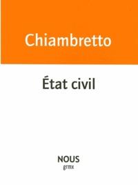 Sonia Chiambretto - Etat civil.