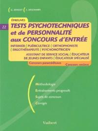 Sonia Deschamps et Ghyslaine Benoist - Concours d'entrée paramédicaux et sociaux - Tests psychotechniques et de personnalité.