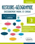 Sonia Laloyaux - Histoire-Géographie Enseignement moral et civique 3e spécial Brevet - Tout le programme en schémas.