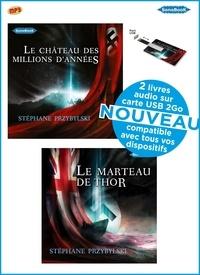Stéphane Przybylski - Coffret PRZYBYLSKI 2 livres audio sur carte USB Tomes 1 & 2 Tétralogie Origines : Le Château des Millions  D'Années  & Le Marteau de Thor. 1 Clé Usb