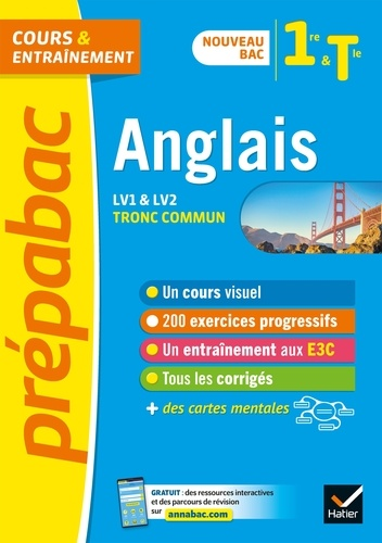 Anglais 1re/Tle (tronc commun) - Prépabac Cours & entraînement. nouveau bac 2020-2021