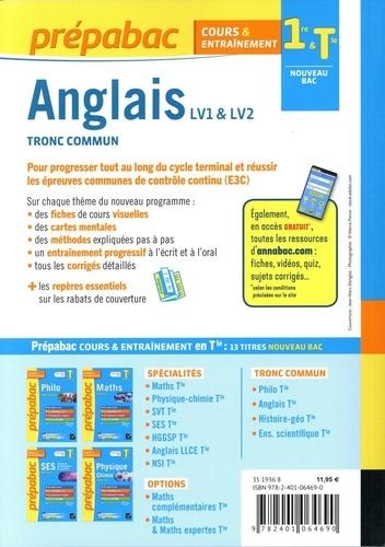 Anglais LV1 & LV2 tronc commun 1re Tle  Edition 2021