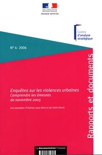 Sophie Boissard - Enquêtes sur les violences urbaines : comprendre les émeutes de novembre 2005 : les exemples d'Aulnay-sous-Bois et de Saint-Denis.
