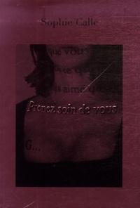 Sophie Calle - Prenez soin de vous. 1 DVD