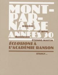 Sophie de Juvigny et Alexandra Charvier - Montparnasse Années 30 - Eclosions à l'académie Ranson.