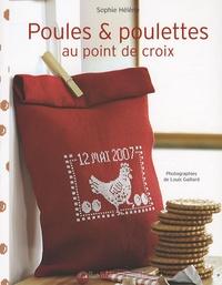 Sophie Hélène - Poules et poulettes au point de croix.