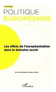 Sophie Jacquot - Les effets de l'européanisation dans le domaine social.