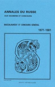 Sophie Lazarus et Georges Davydoff - Annales du russe aux examens et concours 1971-1981.