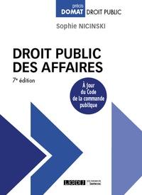 Sophie Nicinski - Droit public des affaires.
