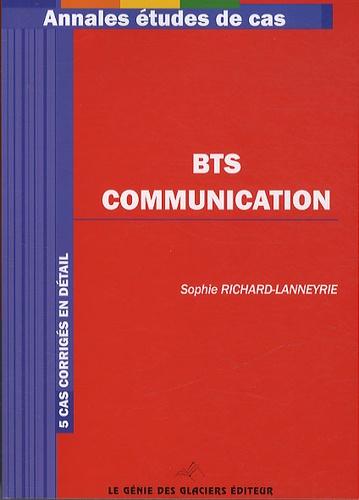 Sophie Richard-Lanneyrie - Annales études de cas BTS communication.