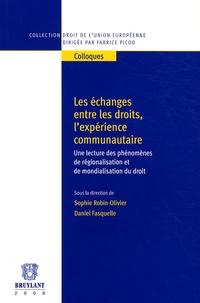 Sophie Robin-Olivier et Daniel Fasquelle - Les échanges entre les droits, l'expérience communautaire - Une lecture des phénomènes de régionalisation et de mondialisation du droit.