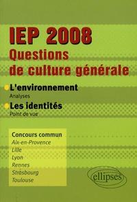 Birrascarampola.it Questions de culture générale IEP 2008 - L'environnement - Les identités Image