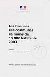 Sophie Salvat et Danièle Hugues - Les finances des communes de moins de 10000 habitants 2003. 1 Cédérom