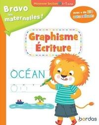 Sophie Stepien et Mélanie Combes - Graphisme écriture moyenne section - Avec + de 100 autocollants.