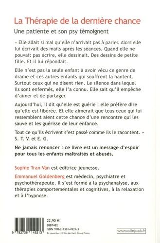 La thérapie de la dernière chance - Une... de Sophie Tran Van ...