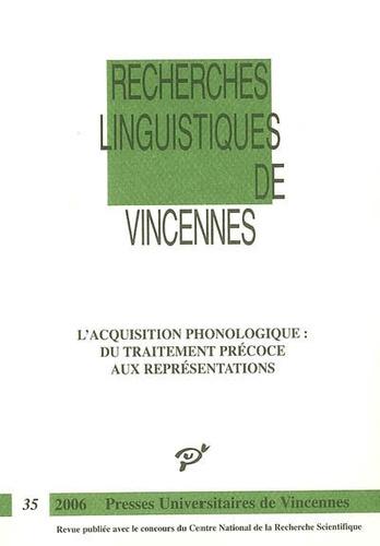 Sophie Wauquier-Gravelines - L'acquisition phonologique - Du traitement précoce aux représentations.