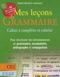 Sophie Wenisch-Labareyre - Mes leçons de grammaire CE2 - Manuel à compléter et à colorier pour structurer les connaisances en grammaire, vocabulaire, orthographe, conjugaison. 1 Cédérom