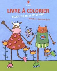 Sophie Zazzéroni - Nestor le chat et ses copains - Livre à colorier.