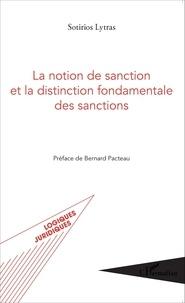 Sotirios Lytras - La notion de sanction et la distinction fondamentale des sanctions.