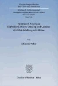 Sponsored American Depositary Shares: Umfang und Grenzen der Gleichstellung mit Aktien.