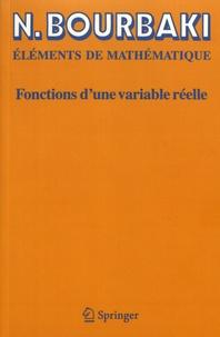 Nicolas Bourbaki - Fonctions d'une variable réelle - Théorie élémentaire.