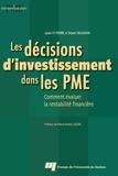 St Pierre et Josée St pierre - Les décisions d'investissement dans les PME.