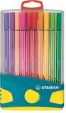 STABILO - 20 feutres Pen 68 Etui Colorparade bleu - Stabilo