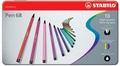 STABILO - Boite métal Feutres Pen 68 /10