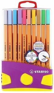 STABILO - Colorparade 20 feutres Point 88 coloris ass. dont 10 pastels