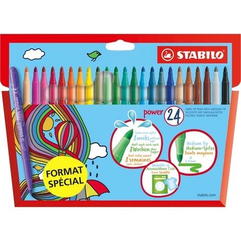 "STABILO - Etui carton x 24 STABILO power ""FORMAT SPECIAL"""