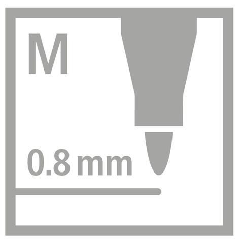 """Pochette 15 feutres d'écriture PointMax """"12+3pastel"""""""