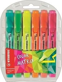 STABILO - Pochette 6 surligneurs Swing Cool Color Matrix