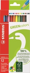 STABILO - Pochette Crayons de couleur Greencolors / 12