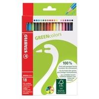 STABILO - Pochette Crayons de couleur Greencolors / 18