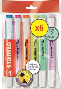 STABILO - rdc ecopack swing cool x6 dont 2 pastels