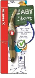 STABILO - Stylo roller Easy Start droitier + 1 recharge - vert olive