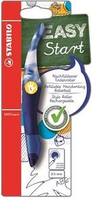STABILO - Stylo roller Easy Start gaucher + 1 recharge - bleu