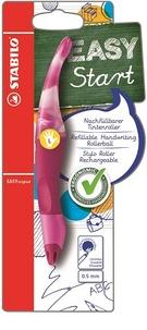 STABILO - Stylo roller Easy Start gaucher + 1 recharge - rose