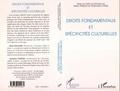Stamatios Tzitzis et Henri Pallard - Droits fondamentaux et spécificités culturelles - [actes du colloque, Paris, 4-5 novembre 1994].