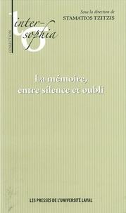 Stamatios Tzitzis - Mémoire entre silence et oubliLa.