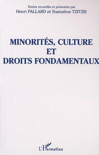 Stamatios Tzitzis et Henri Pallard - Minorités, culture et droits fondamentaux.