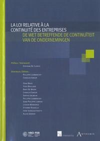 La loi relative à la continuité des entreprises - Livre bilingue français-néerlandais.pdf