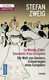 Stefan Zweig - Le monde d'hier, Souvenirs d'un Européen (extraits).