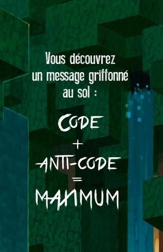 Escape box Minecraft. Contient : 1 livret, 40 cartes, 1 bande-son de 45 minutes, 1 poster