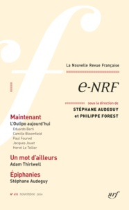 Stéphane Audeguy et Philippe Forest - La Nouvelle Revue Française N° 610, novembre 201 : e-NRF.