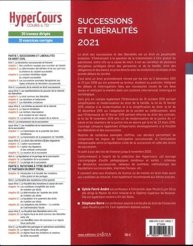Successions et libéralités  Edition 2021