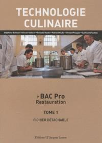 Goodtastepolice.fr Technologie culinaire Bac Pro Restauration - Tome 1, Fichier détachable Image